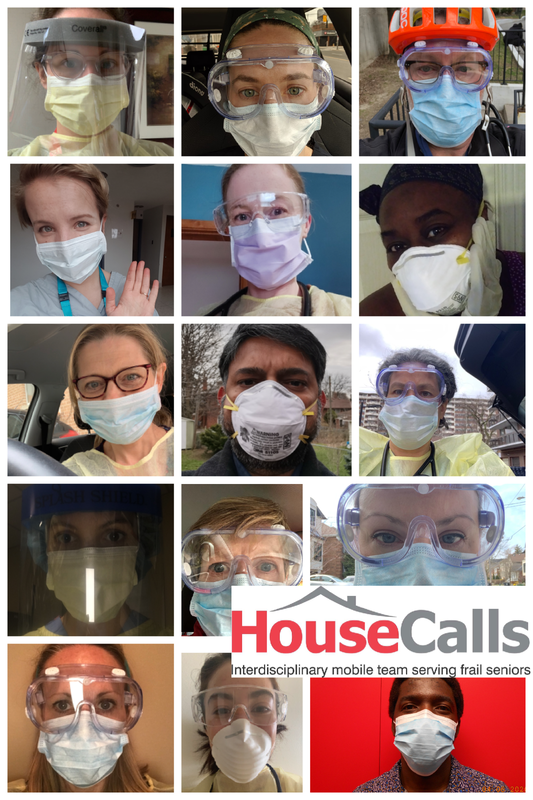 gallery of masked faces - House Calls interdisciplinary mobile team serving frail seniors